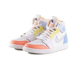 Air Jordan1 candy color stitching high top